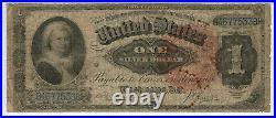 1886 $1 Silver Certificate Ornate Back Martha Note Fr. 218 Pmg Very Good Vg 8