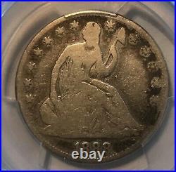 1888 seated Liberty half dollar, good to Very good, pcgs 6, scarce