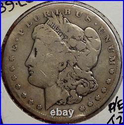 1889-CC Morgan Dollar, Key Date Carson City Mint Dollar, Very Good+ 0224-09