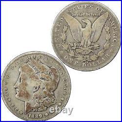 1889 CC Morgan Dollar VG Very Good 90% Silver $1 US Coin Collectible
