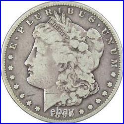 1890 CC Tailbar Morgan Dollar VG Very Good 90% Silver $1 US Coin Collectible
