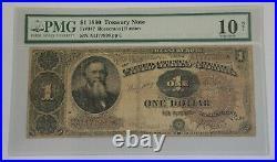 1890 US $1 Treasury Note Fr. 347 Stanton PMG Net 10 Very Good Rust