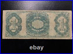 1891 $1 Silver Certificate Martha Note One Dollar VG Very Good FR#223