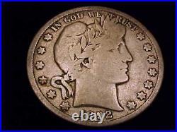 1892-S Barber Half Dollar, Very Good Grade