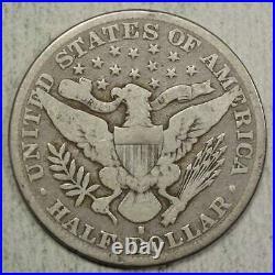 1892-S Barber Half Dollar, Very Good, Key Date, Very Scarce 0202-02