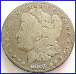 1893 CC Carson City Mint Morgan Silver $1 Dollar Coin Very Good Condition