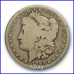 1893 S $1 Morgan Dollar ANACS G 6 Good to Very Good Key Date Original Nice