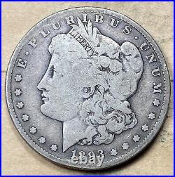 1893-S Morgan Dollar VG Very Good