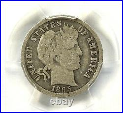 1895-O Barber Dime PCGS VG 08 Very Good Key Date Rare Coin New Orleans Mint 10c