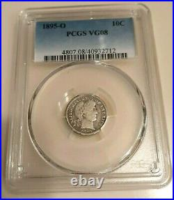 1895-O Barber Dime PCGS VG 08 Very Good Key Date Tough to find