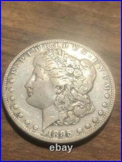 1895-S Morgan Silver Dollar! Semi Key Date! Looks VF! Good Eye Appeal! Very Rare