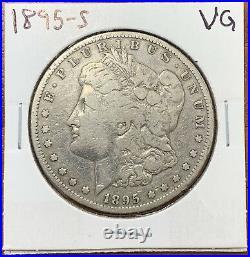 1895-S Morgan Silver Dollar Very Good VGKey Date