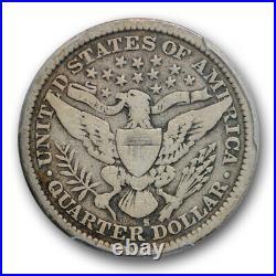 1896 S 25C Barber Quarter PCGS VG 8 Very Good Key Date Looks Better