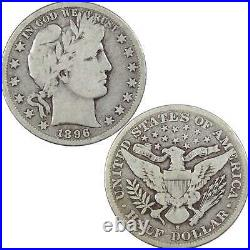 1896 S Barber Half Dollar VG Very Good 90% Silver 50c US Type Coin Collectible