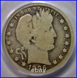 1896-S Barber Silver Quarter KEY DATE Very Good PCGS VG8 VG 8 Green CAC