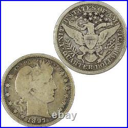 1897 S Barber Quarter VG Very Good 90% Silver 25c US Type Coin Collectible