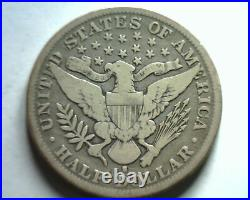 1897-s Barber Half Dollar Very Good / Fine Vg/f Nice Original Coin Bobs Coins