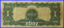 1899 $1 One Dollar Black Eagle Note Very Good Condition