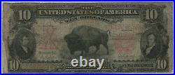 1901 $10 Legal Tender Bison Fr. 119 Pmg Certified Very Good Vg 10 (852)