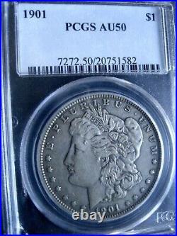 1901-P Morgan Dollar, PCGS AU-50 Very Good-Looking Specimen