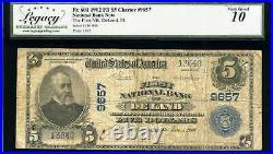 1902 $5 First National Bank DeLand, FL Fr. 601 Ch#9657 Very Good 10 #13640B