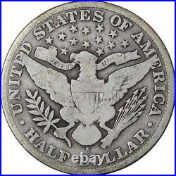 1904 S Barber Half Dollar VG Very Good 90% Silver 50c US Type Coin Collectible