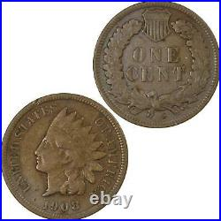 1908 S Indian Head Cent VG Very Good Bronze Penny 1c Coin Collectible