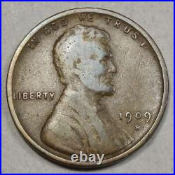 1909-S VDB Lincoln Cent, Key Date, Very Good to Fine 0712-02