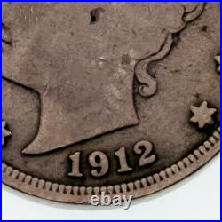 1912-S 5C Liberty Nickel in Very Good Condition