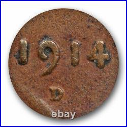 1914 D 1c Lincoln Wheat Cent NGC VG 8 Very Good Denver Mint Key Date Cert#8017