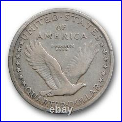 1916 25C Standing Liberty Quarter PCGS VG 10 Very Good to Fine Key Date Cert#