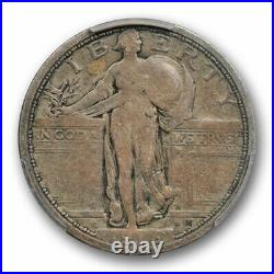 1916 25C Standing Liberty Quarter PCGS VG 10 Very Good to Fine Key Date Strong