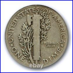 1916 D 10C Mercury Dime ANACS VG 8 Very Good Denver Mint Key Date Cert#9767