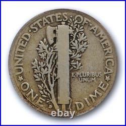 1916 D 10C Mercury Dime ANACS VG 8 Very Good Denver Mint Key Date Original Tough
