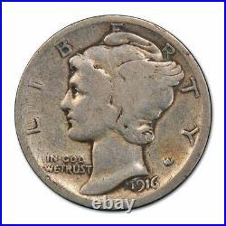 1916 D 10C Mercury Dime PCGS VG 8 Very Good Denver Mint Key Date Cert#0412