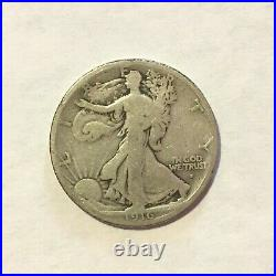 1916-S Walking Liberty Half Dollar Very Good Uncleaned Problem-Free Nice