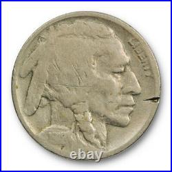1918/7 D 5C Buffalo Nickel Very Good V. G Details Overdate 1918/17 D