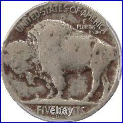 1918/7 D Indian Head Buffalo Nickel 5 Cent Piece VG Very Good Details PCGS Coin