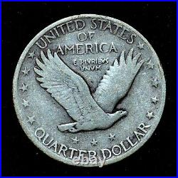 1919-s Standing Liberty Quarter Vg Very Good 25c Silver Scarce Trusted