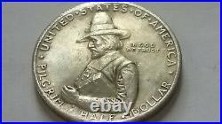 1920 Pilgrim Tercentenary Commemorative Silver Half Dollar Very Good