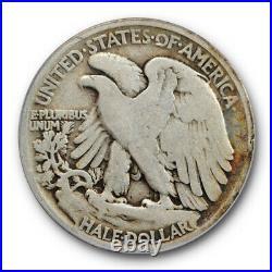 1921 50C Walking Liberty Half Dollar ANACS VG 8 Very Good Strong Key Date