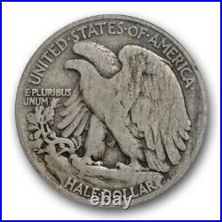 1921 D 50C Walking Liberty Half Dollar ANACS VG 8 Very Good Key Date Denver Mint