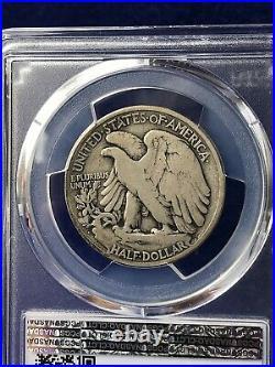 1921-D KEY DATE WALKING LIBERTY HALF DOLLAR 50c PCGS/CAC VG8 VERY GOOD