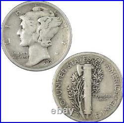 1921 D Mercury Dime VG Very Good 90% Silver 10c US Coin Collectible