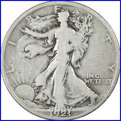 1921 Liberty Walking Half Dollar VG Very Good 90% Silver 50c US Coin Collectible