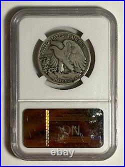 1921 S NGC VG 10 Very Good Walking Liberty Silver US Half Dollar 50C