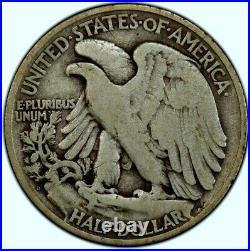 1921-d Walking Liberty Half Dollar Pcgs Vg-10 50c Very Good Choice Trusted