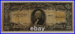 1922 $20 Gold Certificate US Large Size Note Paper Currency Very Good VG