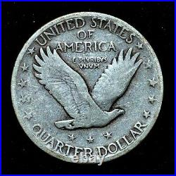 1923-s Standing Liberty Quarter Vg Very Good 25c Silver Scarce Trusted