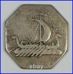 1925 Norse American Commemorative Silver Medal VERY GOOD Thick Variety